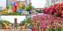 Người Sài Gòn nóng lòng xem đường hoa Nguyễn Huệ chuẩn bị rực sắc xuân trước thềm năm mới