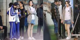 yan.vn - tin sao, ngôi sao - Lộ ảnh hậu trường phim mới, Địch Lệ Nhiệt Ba