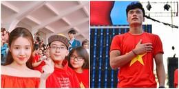 yan.vn - tin sao, ngôi sao - Midu cùng em trai hot boy âm thầm ngồi trên khán đài ủng hộ Bùi Tiến Dũng