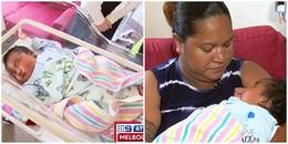 Em bé sơ sinh nặng nhất thế giới với 6,3kg mặc vừa cả quần áo của đứa trẻ 6 tháng tuổi