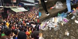 Dù chưa chính thức khai hội nhưng chùa Hương đã kín người, đi không được đứng cũng không xong