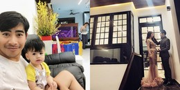 Căn nhà 5 tầng tiền tỷ của vợ chồng 'kiều nữ' Ngọc Lan lung linh sắc Xuân