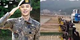 Fan xếp hàng từ sáng, mở ca khúc Untiled 2014 trước nơi nhập ngũ của G-Dragon để chào tạm biệt
