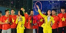yan.vn - tin sao, ngôi sao - Mỹ Tâm vừa thoa son, vừa nhảy tưng bừng cùng U23 Việt Nam