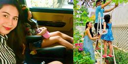 yan.vn - tin sao, ngôi sao - Thuỷ Tiên đưa con gái 5 tuổi xinh xắn, chân dài hun hút đi sắm Tết