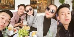 Sau khi về ra mắt gia đình Đàm Thu Trang, Cường Đôla và bạn gái 'tình bể bình' thế này