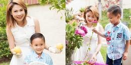 Chỉ mới 6 tuổi nhưng con trai Ngô Kiến Huy đã nói tiếng Anh như gió
