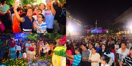 Khai mạc Đường hoa Nguyễn Huệ Tết Mậu Tuất, hàng ngàn người chen chúc nhau chụp hình