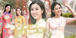 Đỗ Mỹ Linh - Thanh Tú khoe sắc mong manh đẹp 'đốn tim' trên phố Xuân