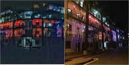 """Sân trường Học viện Cảnh sát bỗng biến thành """"phố Tạ Hiện"""" với loạt đèn nhấp nháy sáng tưng bừng"""
