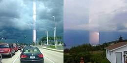Luồng ánh sáng kì lạ xuất hiện trên bầu trời khiến hàng nghìn cư dân mạng hoang mang