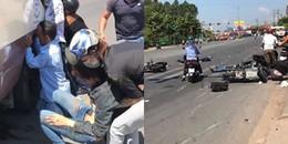 Bình Dương: Va chạm giao thông, 2 nạn nhân bị cuốn vào gầm xe khách, nhiều người bị thương nặng