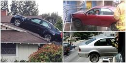 Những tai nạn xe cộ khiến người xem không tin nổi, ô tô mà còn lơ lửng giữa mái nhà như trong phim