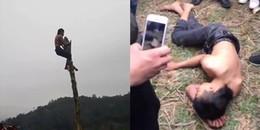 """Cận cảnh nam thanh niên ngã trọng thương khi thi trèo cây chuối trong hội làng, BTC nhận """"gạch đá'"""