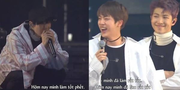 BTS tung video clip liveshow concert: Anh cả Jin bị các em cưng dìm hàng tới bến