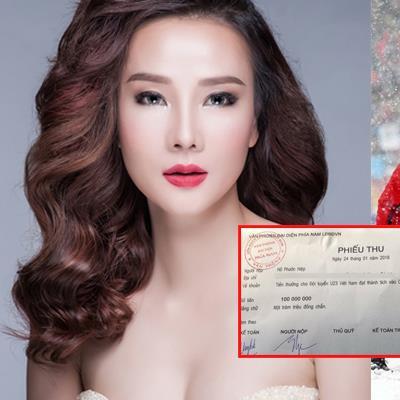 Sao Việt đầu tiên khoe biên lai chuyển tiền tặng cầu thủ U23 Việt Nam