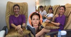 Diệu Nhi hài hước bắn tiếng Anh với khách Tây, cười khoái chí khi được khen đẹp giống Angelina Jolie