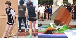 Những lần sao Hàn gặp tai nạn đổ máu, thậm chí là suýt chết khi đi show thực tế