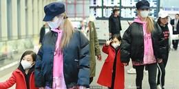 Giữa lùm xùm nghi vấn ly hôn, Lý Tiểu Lộ nắm chặt tay con gái xuất hiện tại sân bay