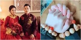 Tung ảnh kỉ niệm ngày cưới ngọt ngào thế này, An Dĩ Hiên muốn netizen sống sao