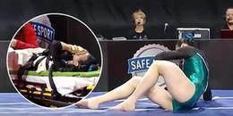 Clip gây sốc: VĐV 19 tuổi chấn thương gãy chân kinh hoàng khi thực hiện nhảy ngựa