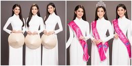 Chỉ diện áo dài trắng Top 3 Hoa hậu Việt Nam 2016 vẫn 'đốn tim' người hâm mộ