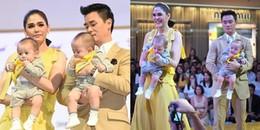 """Mải mê mút tay khi đi sự kiện, cặp song sinh của """"mỹ nhất đẹp nhất Thái Lan"""" gây """"sốt"""" toàn MXH"""