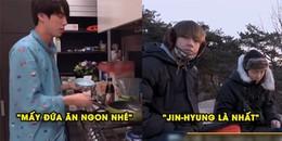 Biết RM và V 'hẹn hò' cùng nhau leo núi ngắm mặt trời mọc, Jin thức đêm nấu thức ăn cho cả 2