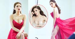 Hoa hậu Kỳ Duyên khoe ngực đầy đặn, vòng 3 lấp ló trong bộ hình mới nhất