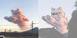 Chỉ một đám mây mà dân mạng đã nhanh chóng chế đủ '50 sắc thái' biểu cảm của mèo