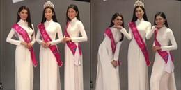 Top 3 Hoa hậu Việt Nam 2016 'lầy lội' trong buổi chụp ảnh cuối cùng trước khi kết thúc nhiệm kì