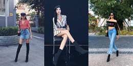 'Bỏ quên' style Hoa hậu, Hoàng Thùy trở lại đường đua street style cá tính