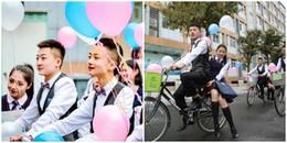"""Hình ảnh khiến bạn phải xuýt xoa: 8/3 của con gái trường người ta, với dàn """"soái ca"""" đạp xe tặng quà"""