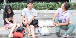 Đau lòng cảnh trẻ em, thú cưng nằm la liệt trên vỉa hè vì chưa tìm được chỗ trú sau vụ cháy