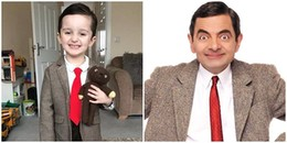 Cậu bé giống Mr Bean như hai giọt nước từ vẻ ngoài đến thần thái