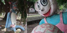 Dân mạng 'rùng mình' trước loạt ảnh, những bức tượng 'đáng yêu' trong công viên tại Việt Nam