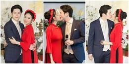 Mai Hồ và ông xã 'soái ca' Việt kiều hôn nhau đắm đuối trong lễ đính hôn