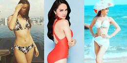 'Cuộc đua' bikini đầu năm vẫn chưa có dấu hiệu dừng lại của mỹ nhân Việt