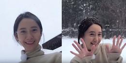 Chỉ là chơi đùa dưới tuyết thôi mà Yoona mặt mộc vẫn xinh đẹp động lòng người
