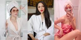 Muôn kiểu gợi cảm của mỹ nhân Việt với áo choàng, khăn tắm