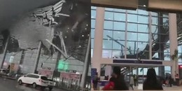 Mưa lớn, mái sân bay bất ngờ đổ sập xuống khiến tất cả hành khách bị một phen hoảng hồn