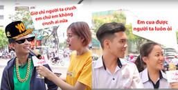 1001 cảm xúc khi được hỏi về crush, đúng là đụng tới yêu đương là ai cũng hoá điên hoá dại