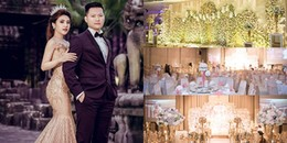 Không gian tiệc cưới 5 sao của Á quân The Voice 2015 và ông xã hơn 7 tuổi