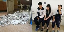 Hà Nội: 3 học sinh bị thương khi mảng trần lớn trong lớp học bất ngờ sập xuống