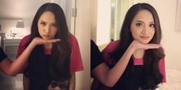 Hoa hậu Hương Giang hưởng ứng trào lưu 'đặt cằm lên tay' cực đáng yêu