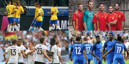 Những đội tuyển sở hữu siêu đội hình tại World Cup 2018