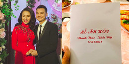 'Há hốc' với thực đơn ăn không hết trong lễ đính hôn của Khắc Việt và vợ DJ