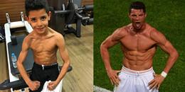 yan.vn - tin sao, ngôi sao - Ronaldo thích thú khi được con trai bắt chước tư thế ăn mừng chiến thắng kinh điển của mình