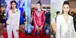 Không hẹn mà gặp, Thanh Hằng -  Hoàng Yến Chibi - Hoàng Oanh cùng diện menswear lên thảm đỏ