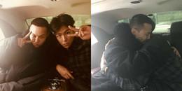 yan.vn - tin sao, ngôi sao - Fan cảm động phát khóc trước cái ôm ấm áp mà T.O.P dành cho G-Dragon trước ngày nhập ngũ